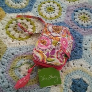 Vera Bradley Pink Multicolor Floral Quiltedwallet